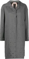 No.21 Crystal-Embellished Single-Breasted Coat