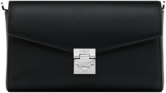 MCM Millie Flap Crossbody in Grained Leather