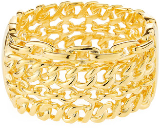 Kenneth Jay Lane 4-Row Link Cuff Bracelet