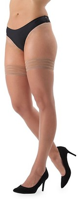 Me Moi Simply Bare Lace-Top Thigh-High Tights