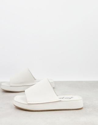 Free People Flatform Moree slide sandals in grey