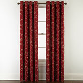Royal Velvet Plaza Embroidery Blackout Grommet-Top Curtain Panel