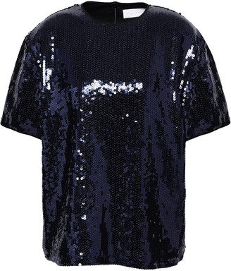 Victoria Victoria Beckham Sequined Woven Top