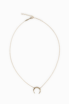 Jacquie Aiche Partial Pav Crescent Necklace