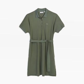 Lacoste Women's Kimono-Sleeved Wide Polo Dress