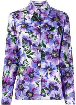 Dolce & Gabbana Floral Print Cotton Shirt