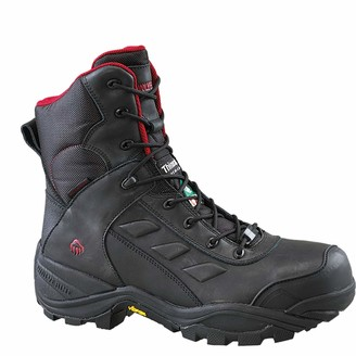 """Wolverine mens Growler Composite Toe Waterproof 8"""" Work Boot Fire and Safety Shoe"""