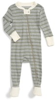 Infant Boy's Burt's Bees Baby Stripe Fitted One-Piece Footed Pajamas