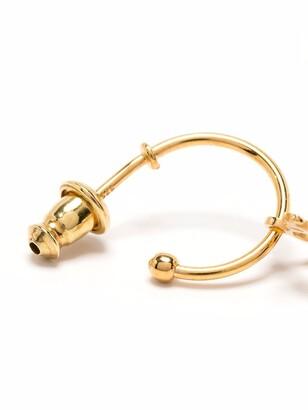 Simone Rocha X initial-pendant single earring