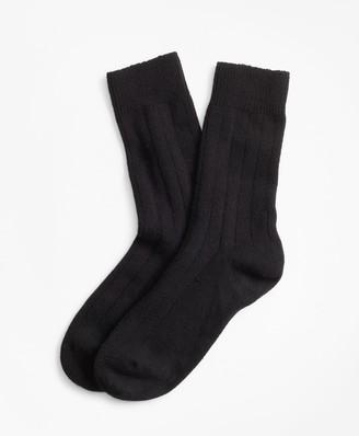 Brooks Brothers Rib-Knit Stretch Cashmere Socks
