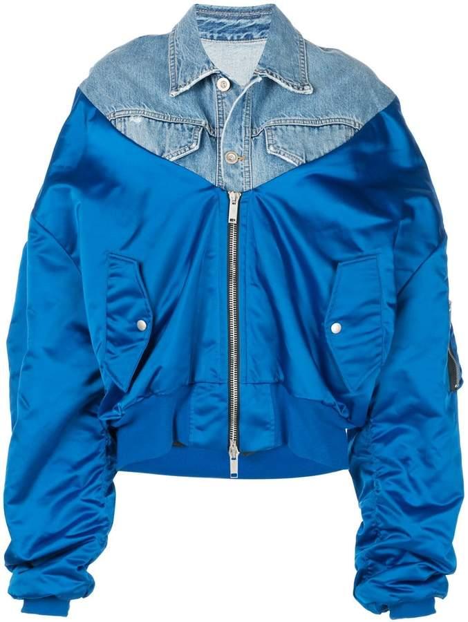 0d9057a31 oversized denim bomber jacket