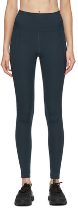 Girlfriend Collective Navy High-Rise Compressive Leggings