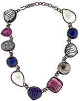 Saint Laurent Textured Link Necklace