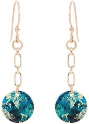 Odell Design Studio Gold Petit Dangle Earrings Ocean