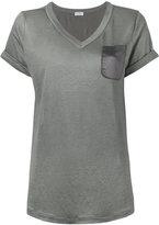 Brunello Cucinelli loose-fit T-shirt - women - Silk/Linen/Flax - XXL