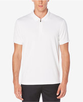 Perry Ellis Men's Zip-Closure Textured Polo