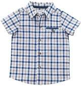 Mud Pie Baby Boys Gingham Short Sleeve Button Down Shirt