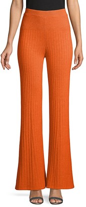 Free People High-Rise Cotton-Blend Flared Pants