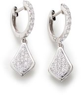Kendra Scott Luella Drop Earrings in Pave Diamond and 14k White Gold