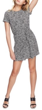 1 STATE 1.state Folk Silhouette Floral-Print Short Dress