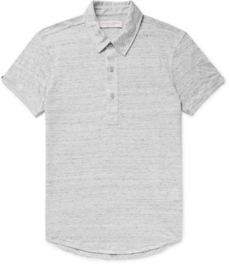 Orlebar Brown Sebastian Slim-Fit Melange Linen-Jersey Polo Shirt