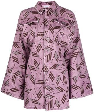 ATTICO Flag-Print Shirt Dress