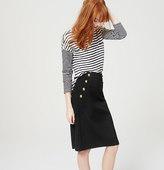 LOFT Petite Sailor Pencil Skirt