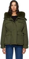 Yves Salomon Army Army Green Down Bachette Jacket