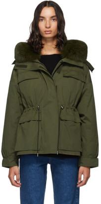 Yves Salomon Army Green Down Bachette Jacket