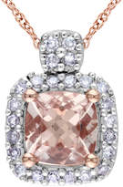 Asstd National Brand Genuine Morganite & Diamond Pendant Necklace