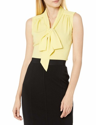 Tahari ASL Women's Sleevless Low Bow Blouse