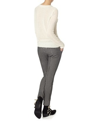 Thakoon Ivory Mohair Lace Knit