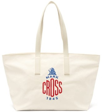 Mark Cross Weatherbird Embroidered-logo Canvas Tote Bag - Womens - White