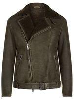 AllSaints Brennand Shearling Biker Jacket