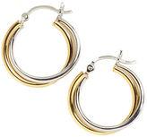 Lord & Taylor Sterling Silver Twist Hoop Earrings
