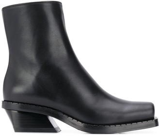 Proenza Schouler square toe leather boots