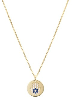 Aqua Hamsa Disc Pendant Necklace in Sterling Silver or Gold-Plated Sterling Silver, 16-18 - 100% Exclusive