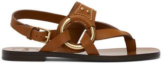 Chloé Brown Demi Flat Sandals