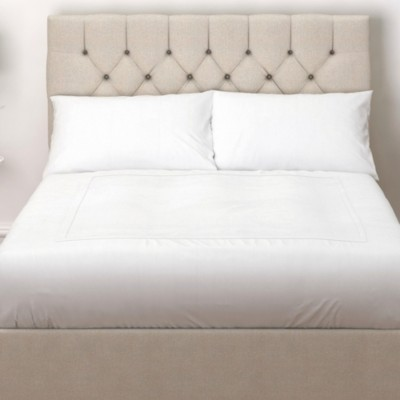 The White Company Richmond Headboard Linen Union, Natural Linen Union, Super King