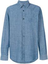 A.P.C. lace-up buttoned shirt