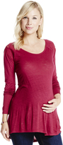 Motherhood Jessica Simpson Embroidered Maternity Top