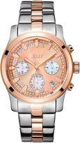 JBW Alessandra Womens Diamond-Accent Two-Tone Stainless Steel Bracelet Watch JB-6217-M