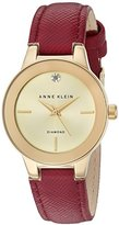 Anne Klein Women's AK/2538CHBY Analog Display Japanese Quartz Red Watch