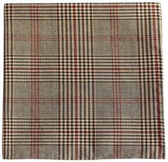 Proenza Schouler The Tie BarThe Tie Bar Brown Central Glen Plaid Pocket Square