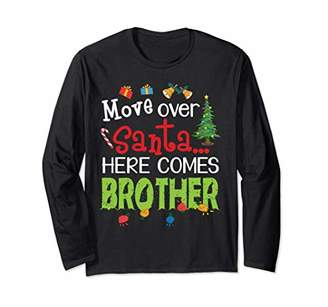 Möve Xmas Bell Presents Lights Over Santa Here Comes Brother Long Sleeve T-Shirt