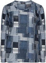 Via Appia Plus Size Long-sleeved patchwork top