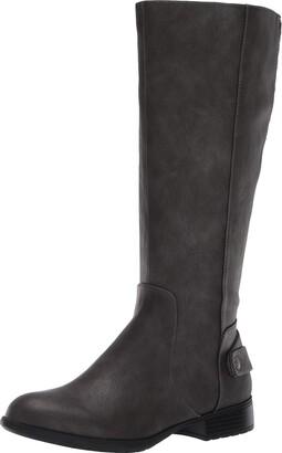 LifeStride Womens X-Amy Wc Dark Grey Wide Calf High Shaft Boots 11 W