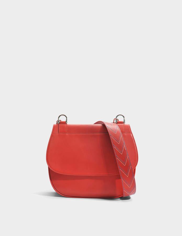 Gerard Darel You Hobo Bag in Red Calfskin