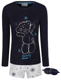 George Tatty Teddy Pyjamas with Eye Mask Gift Set