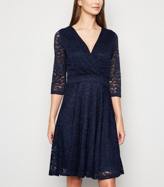 New Look Mela Lace Long Sleeve Dress